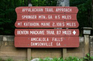 Appalachian Trail Approach Sign