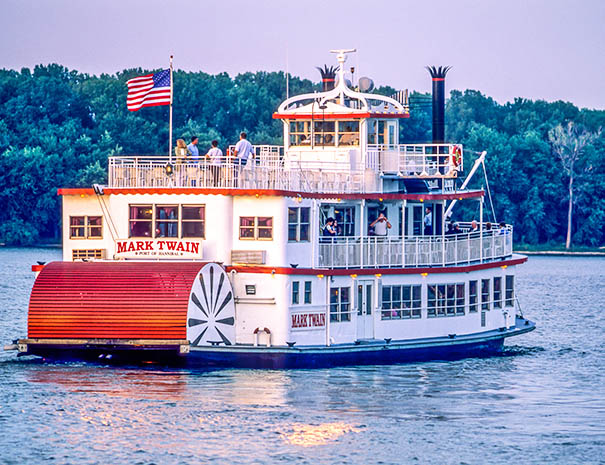 COLA - Paddlewheel Steamboat on the Mississippi River near Hannibal Missouri