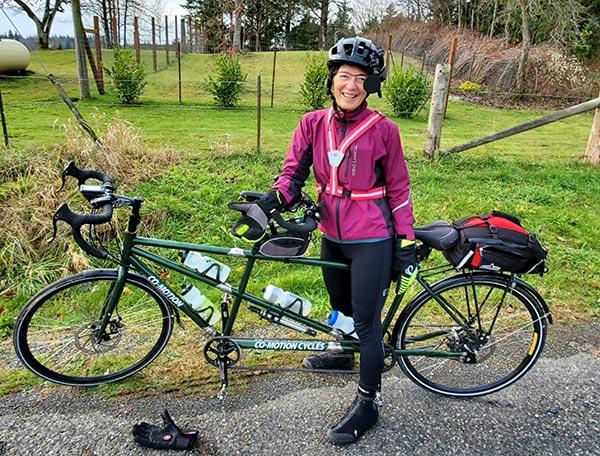 Francie   Winter Tamdem Ride   2020