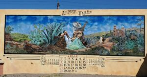 COLA   Day 17 - Mural in Alpine TX   Cross Country Bike Tour