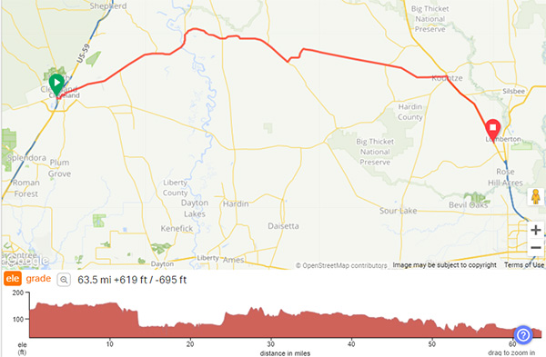 COLA | Day 28 - GPS Screenshot | Epic Cross Country